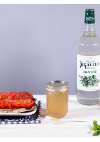 Gelly Mint Maison sur toast de tomates