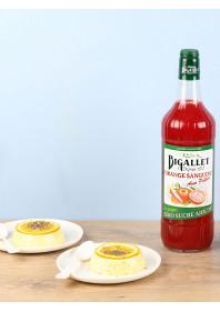 Flan végétal renversé à l'orange sanguine