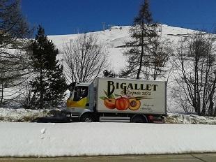 camion Bigallet en station de ski