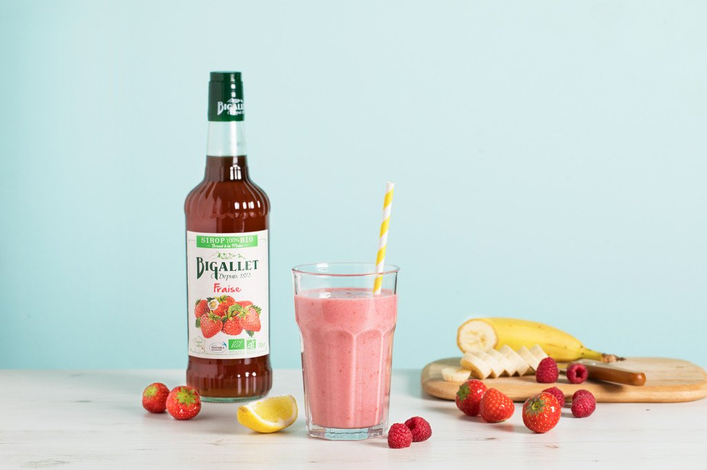 Mocktail : Smoothie santé aux fruits rouges BIO