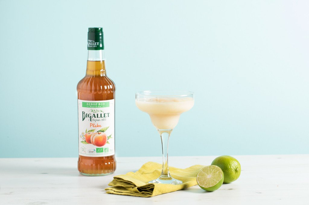 Cocktail : Frozen margarita pêche BIO